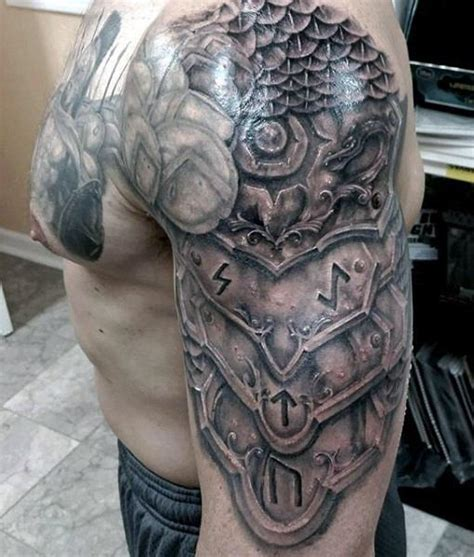 body armour tattoos designs realistic shoulder armor for