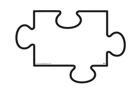 single puzzle template blank jigsaw puzzle template individual a4 size pieces