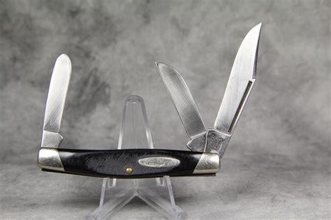 buck 303 knife 1972 1986 buck 303 black sawcut stockman pocket knife