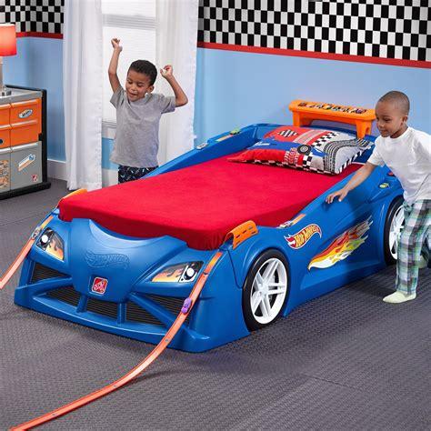 race car twin bed step2 hot wheels race twin car bed reviews wayfair