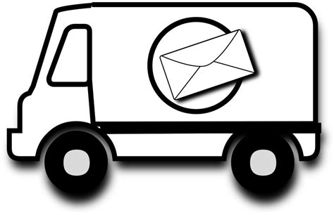 coloring pages mail truck mail delivery truck coloring pages coloring pages ideas
