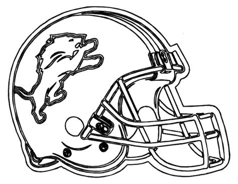 coloring pages detroit lions football helmet detroit lions coloring page boys only
