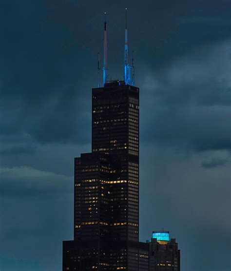 why is the tower the hancock blue here s the