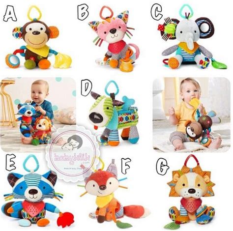 Boneka Rattle Baby jual skiphop bandana buddies boneka rattle teether babyklik baby shop
