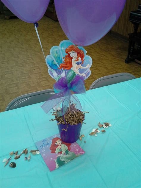 the little mermaid centerpiece 2 omg sophia s birthday