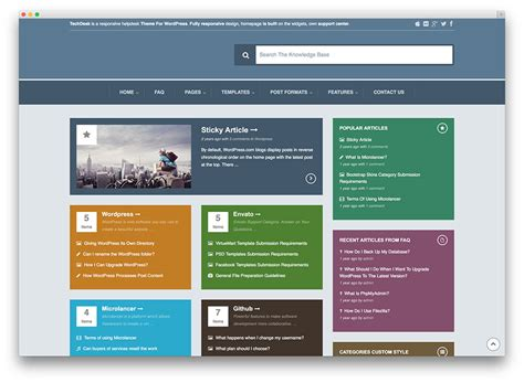 website templates for knowledge management 13 professional wordpress knowledge base themes and