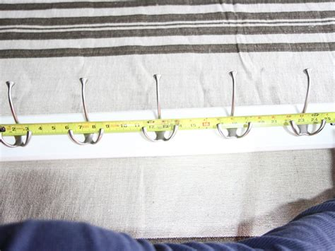 distance between coat hooks how to hang a coat rack on a wall how tos diy