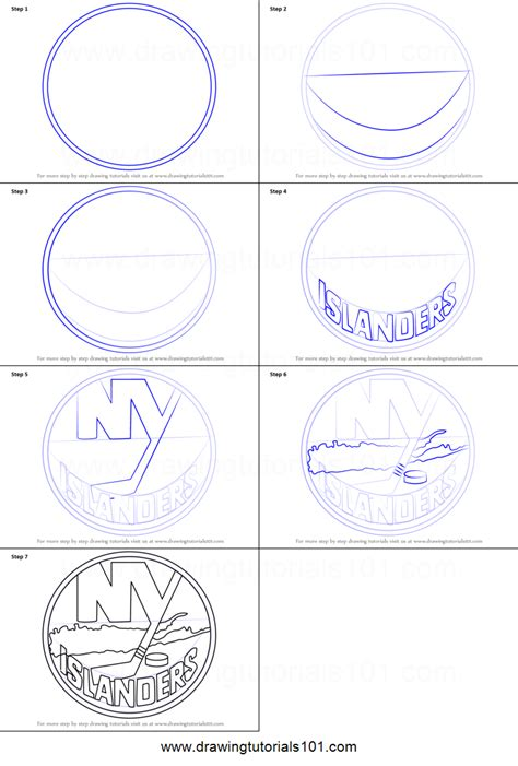 How To Draw New York Step By Step how to draw new york islanders logo printable step by step