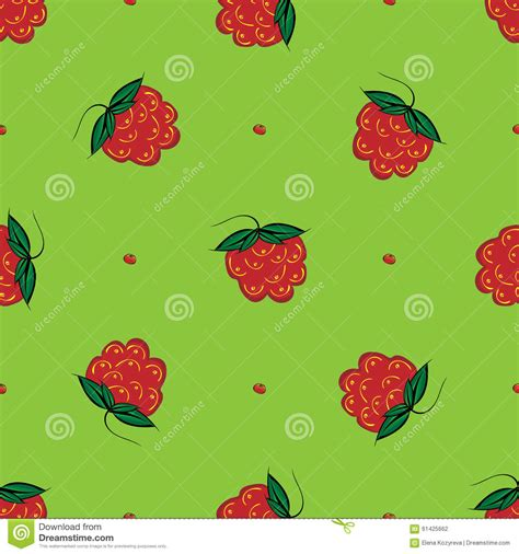 seamless pattern nature berry raspberry seamless pattern nature green background