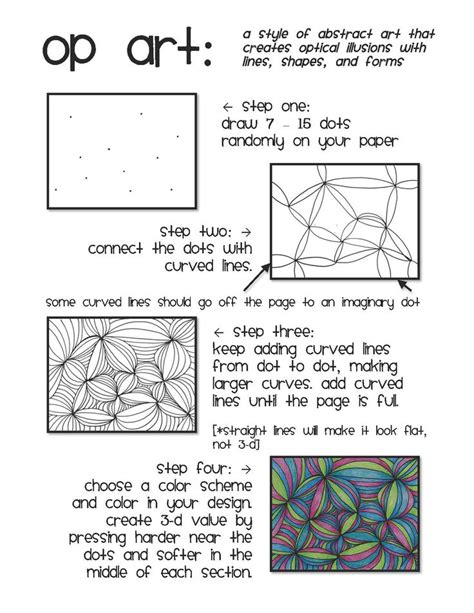 printable optical illusions lesson plans op art line design emergency sub plan art resources and