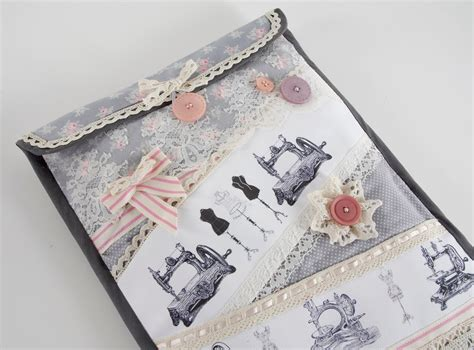 a shabby chic tablet case for you to sew by debbie shore