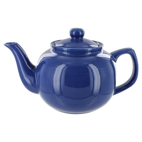 Tea Planter S by Tea Store Brand 6 Cup Teapot Blue Gloss Finish