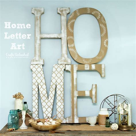 home art tutorial extra large diy letter decor