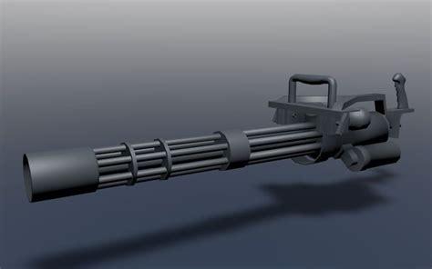 Kaos 3d Gafting Gun 3d model mini gun m134 gatling gun unfinished vr ar low poly obj 3ds fbx stl blend mtl