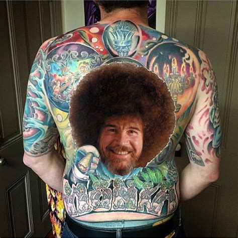 bob ross tattoo bob ross images wallpaper and free
