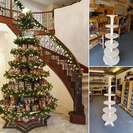 link  plans  build  stand christmas tree village