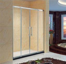 60 Inch Sliding Patio Door Custome 2 Panels Sliding Glass Door Fits 60 Inch Opening Clear Glass Chrome Finish Kd5212
