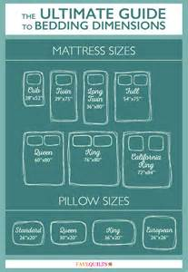 Bed Quilt Size Free Printables Yardage Charts Bedding Dimensions
