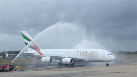 emirates water emirates a380 colombo flight marks a milestone an