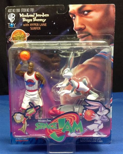 Playmates Space Jam Michael And Bugs Bunny Hyper Surfer bugs bunny figure shop collectibles daily