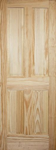 8 Panel Interior Wood Doors by Discount 6 8 Quot 4 Panel Pine Interior Wood Door Slab