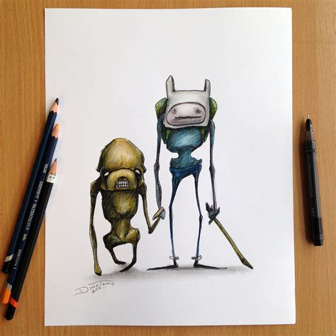 jake and finn adventure time sketch by atomiccircus on
