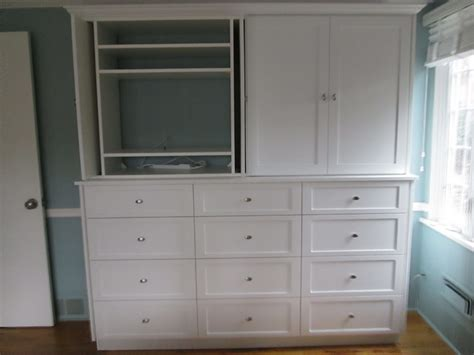 built in closet chest of drawers custom shaker built in unit traditional bridgeport