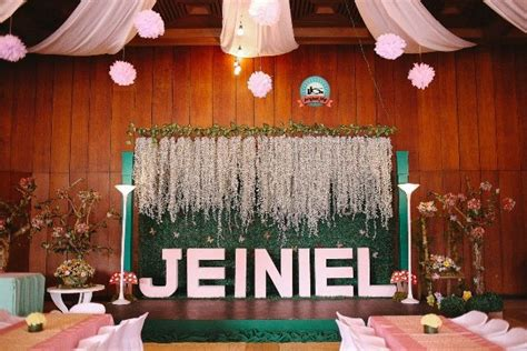 party themes debut jeiniel s enchanted garden themed party stage enchanted