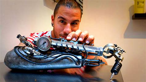 most amazing prosthetic arm tattoo artist youtube