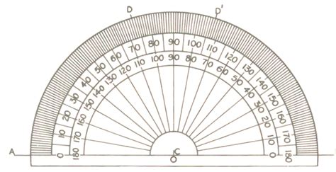 printable mini protractor basic engineering drawing drawing instruments