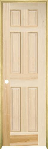 Poplar Interior Doors Mastercraft Poplar Raised 6 Panel Prehung Interior Door At Menards 174