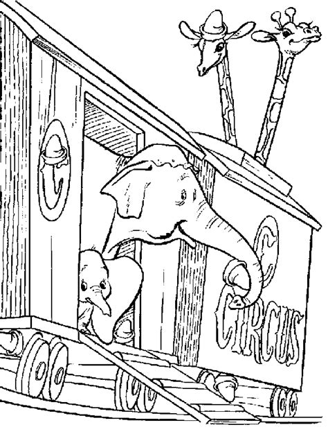 circus train coloring page dumbo coloring pages coloring home