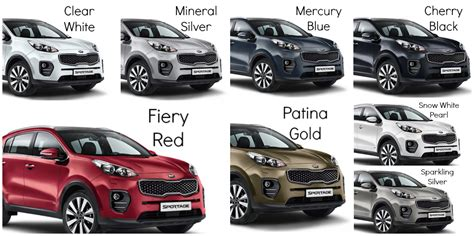 what is the color of 2016 image gallery 2016 sportage colours