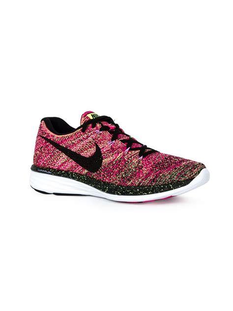 nike sneakers nike flyknit lunar 3 sneakers in pink lyst