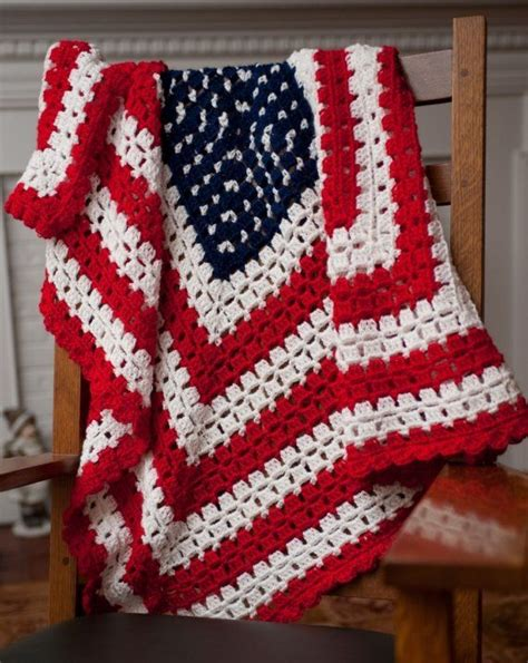American Flag Crochet Blanket Pattern