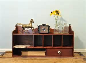 Vintage Desk Organizer Vintage Wooden Desk Organizer By Joiedecleve On Etsy