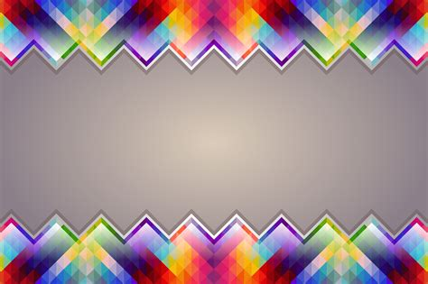 Geometric Colorful Border Ppt Backgrounds Template For Colorful Templates For Powerpoint