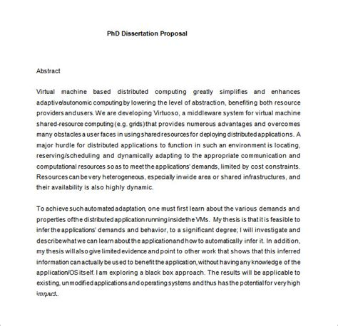 phd thesis template word dissertation template 14 free sle exle