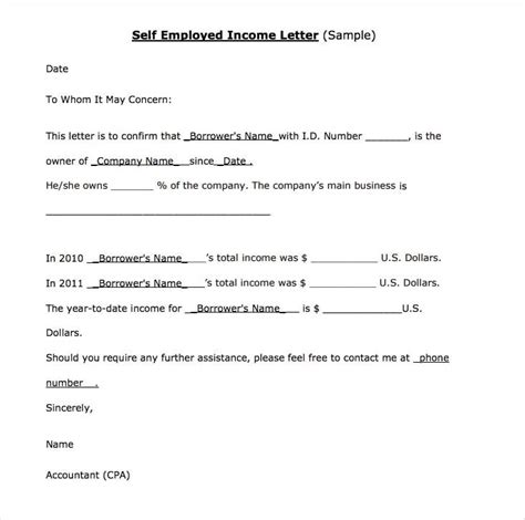 employed income verification letter