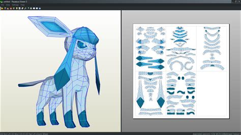 Glaceon Papercraft - glaceon papercraft by antyyy deviantart on