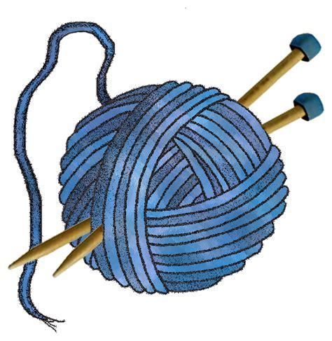 knitting clipart artbyjean paper crafts knitting wool set a24 blue