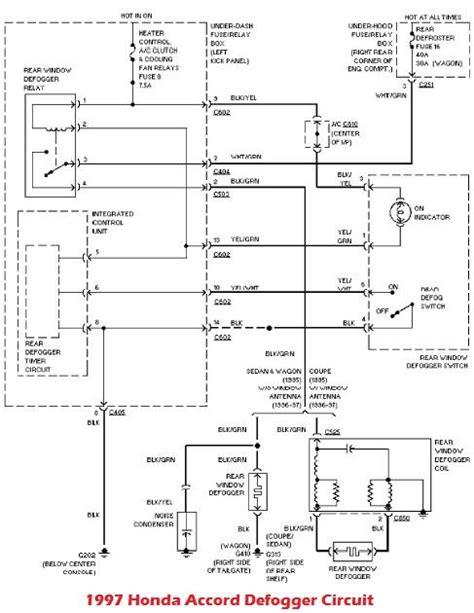 1997 honda accord system wiring diagram circuit wiring diagrams