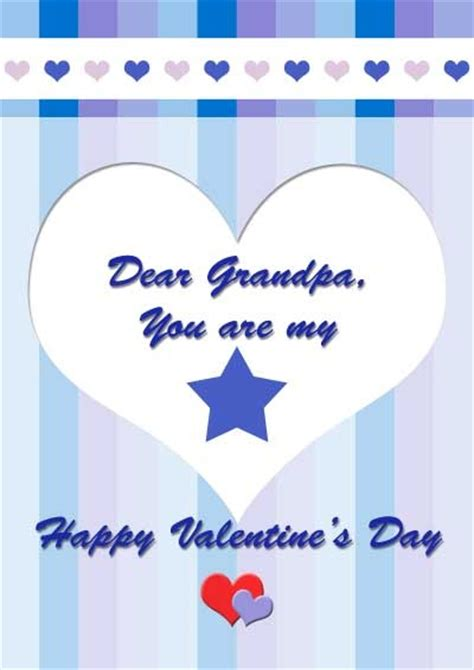 printable valentine card for grandson free printable valentine s day card for grandpa my free