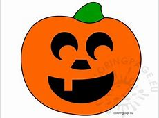 Halloween - Coloring Page Pumpkin Pattern Free