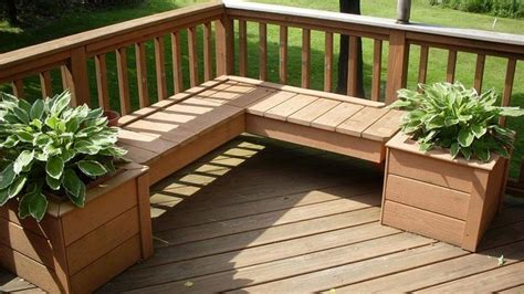 deck bench seating ideas deck bench planters backyard ideas pinterest