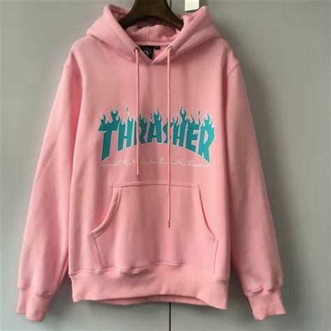 Hoodie Sweater Thrasher Skateboard Magazine thrasher logo hoodies box supremo paccbet