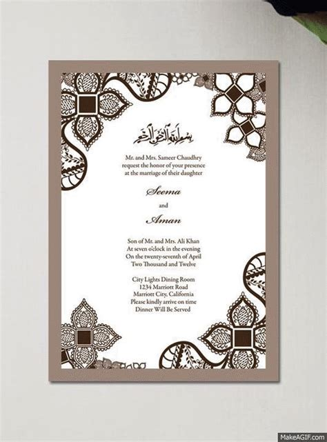 Wedding Card Gif by Invitation Gif Choice Image Invitation Sle And