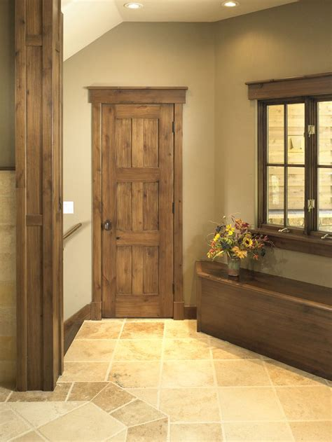 rustic interior doors rustic craftsman interior closet door square top rail 6 panel a1 knotty alder ya river