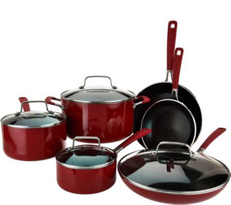 Kitchenaid 10 Cookware Set by Kitchenaid 10 Nonstick Aluminum Cookware Set