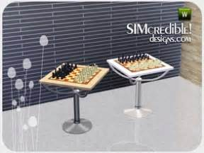 chess table chairs sims 3 downloads sims 3 object styles furnishing